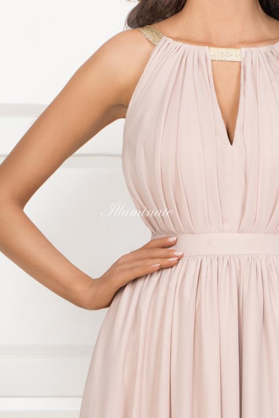 ELISA długa sukienka nude