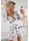 SISI white floral dress