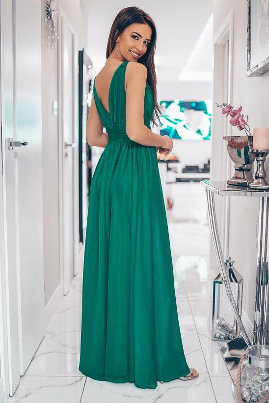 Gloria zielona sukienka wieczorowa
