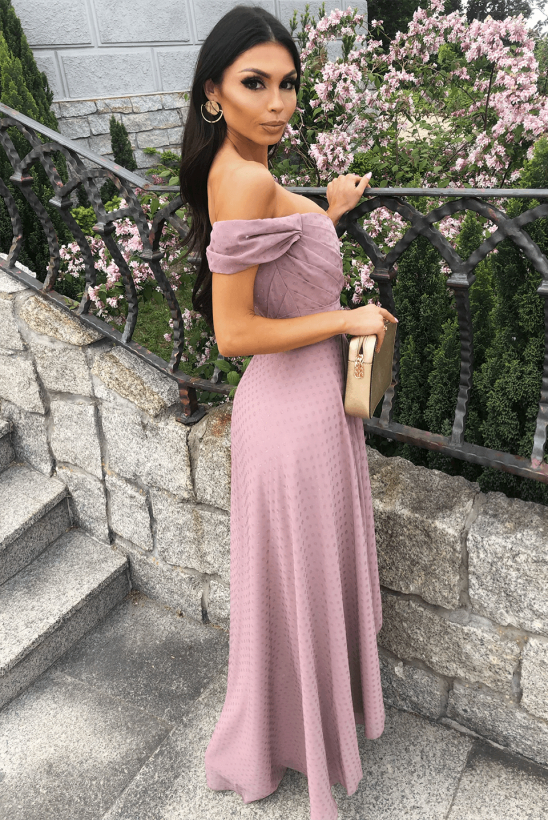 IRIS jagodowa sukienka Illuminate