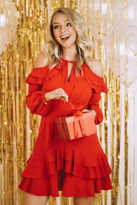 ANASTAZJA czerwień sukienka illuminate