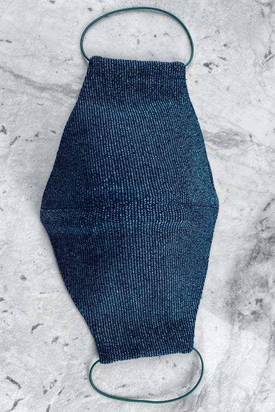 Reusable face mask blue