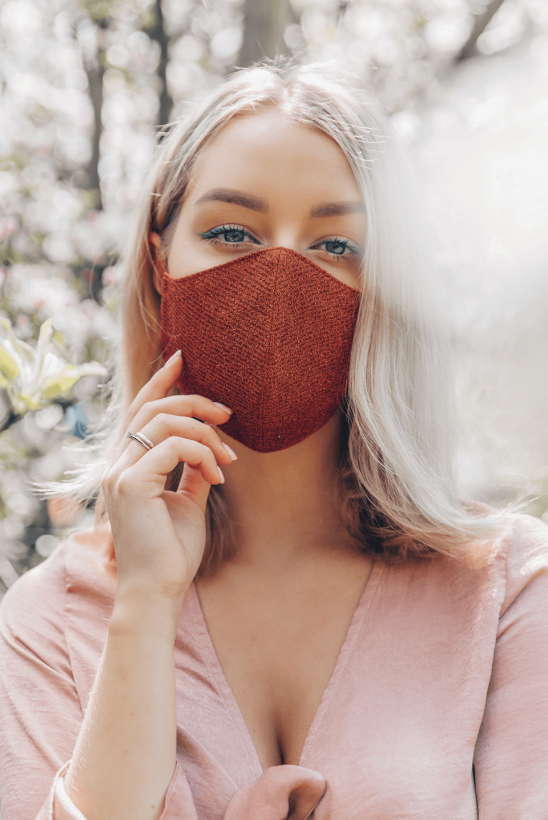 Reusable face mask copper