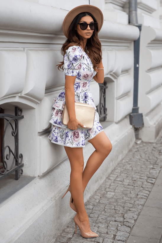 DAISY white floral dress