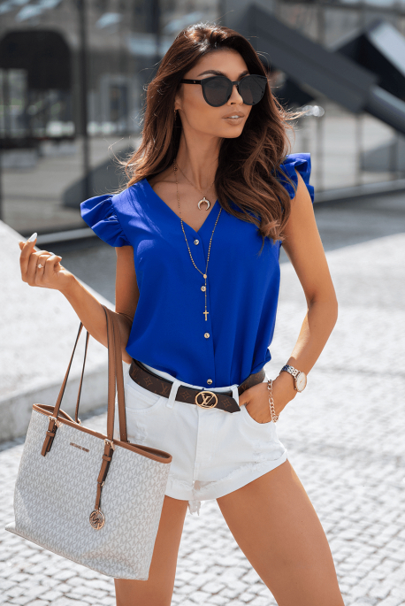 LUCIA cobalt blouse by Illuminate