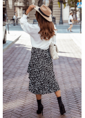 AMY black midi skirt