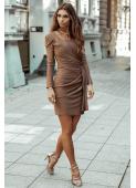 KIRA sukienka ciemne złoto