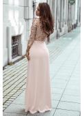 NAOMI beżowa sukienka