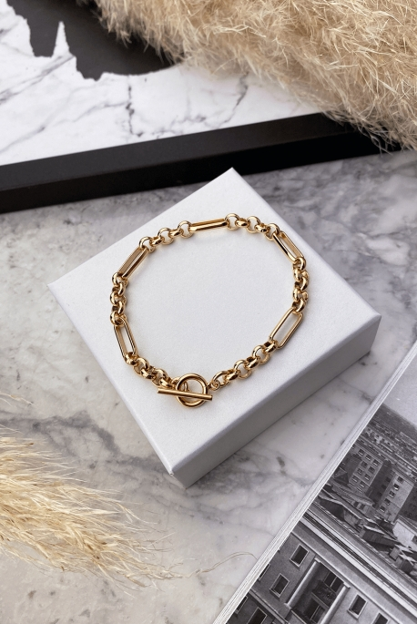 Cascade bracelet rose gold 316L stainless steel