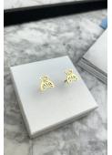 Gold teddy bear earrings 316L stainless steel