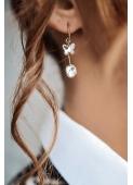 Hanging butterfly earrings stainless steel 316L