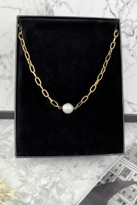 Gold-plated pearl armor chain 316L stainless steel