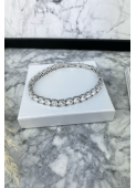 Silver crystal bracelet 316L stainless steel