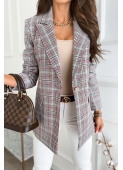 MELBOURNE gray checked jacket by Illuminate