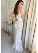 LISA white evening dress