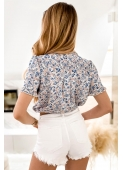BECKY shirt with blue flowers