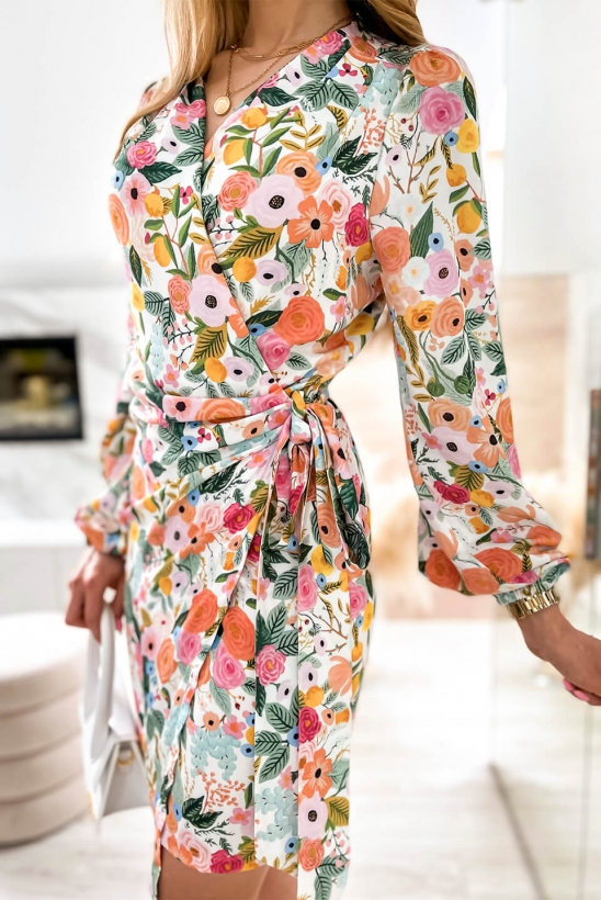 CORNELIA sukienka w kolorowe kwiaty by Illuminate
