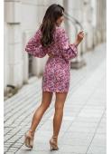 CORNELIA floral pink dress by Illuminate
