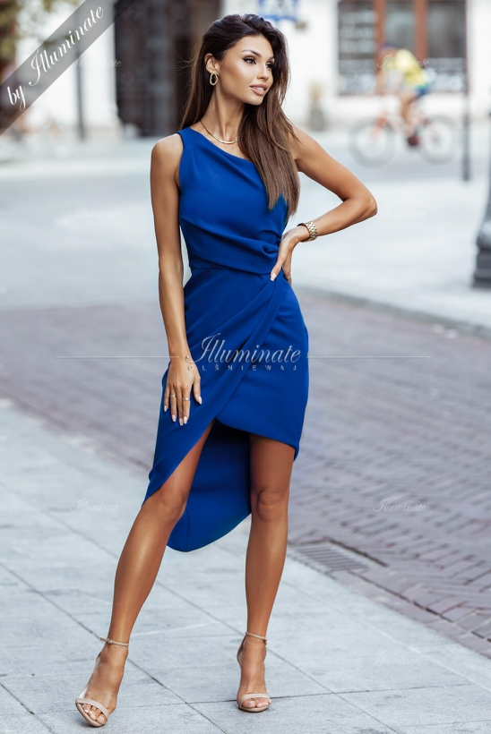 RACHEL kobaltowa sukienka by Illuminate