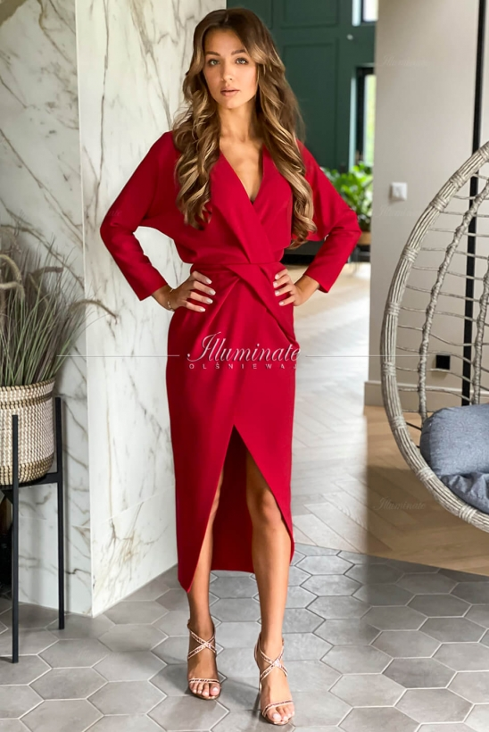 EVELYN midi red by Illuminate
