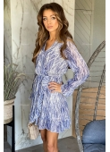 KERRY blue dress with a snake pattern