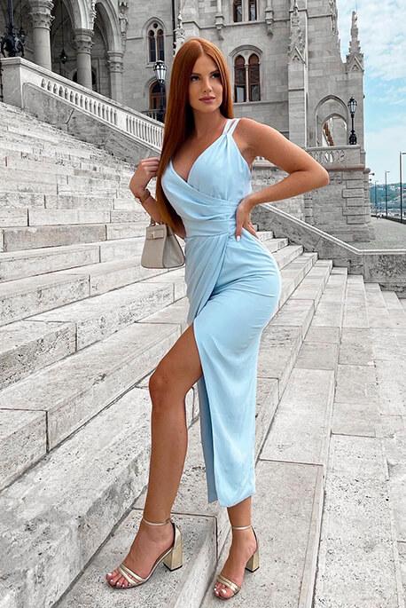 Lidia błękitna wieczorowa sukienka Illuminate