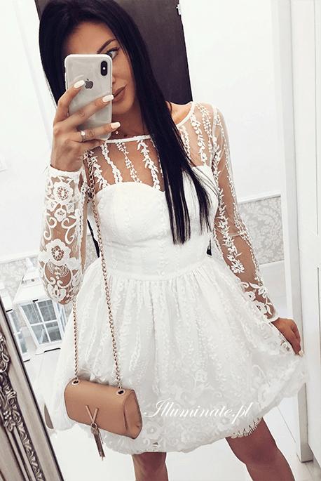 Allison biała koronkowa sukienka