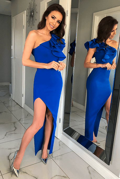 Ashley kobaltowa sukienka na wesele