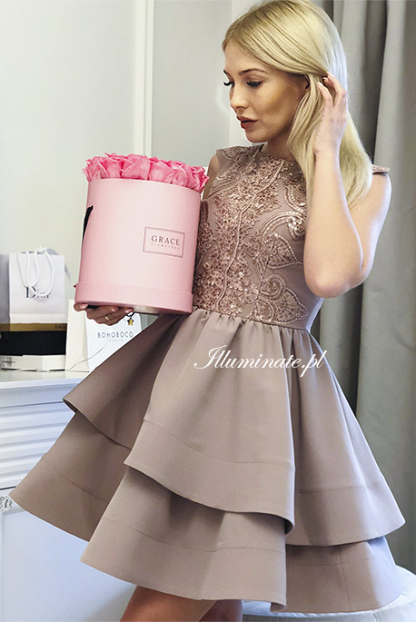 Claire sukienka cielista na wesele
