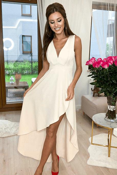 Dafne kremowa sukienka na wesele