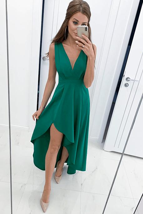 Dafne butelkowa zieleń sukienka dla druhny