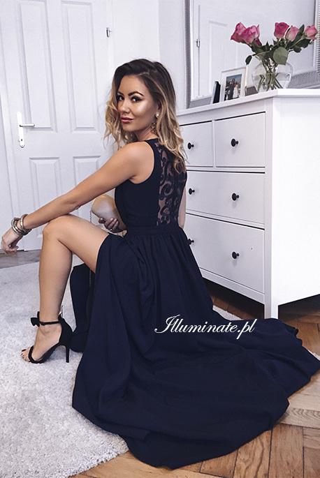 Ellie granatowa sukienka