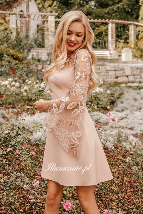 EMILY beżowa sukienka Illuminate