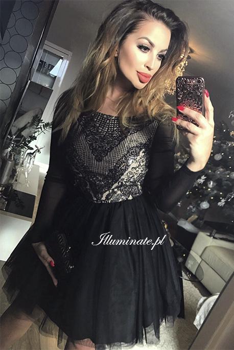 Gabrielle CZARNAtiulowa sukienka
