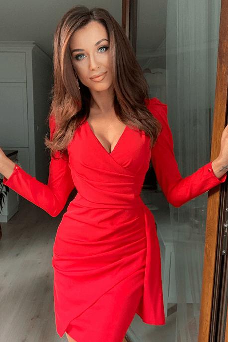 Gaia czerwona sukienka na święta