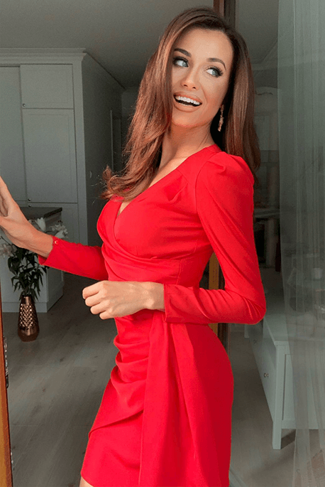 Gaia czerwona wieczorowa sukienka