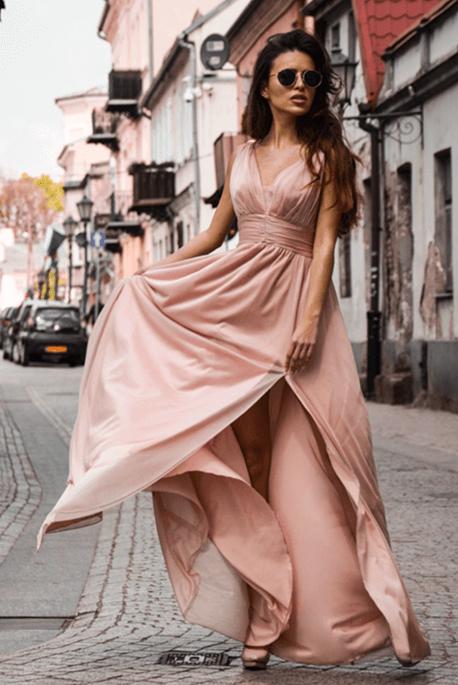 Długa sukienka dla druhny Gloria