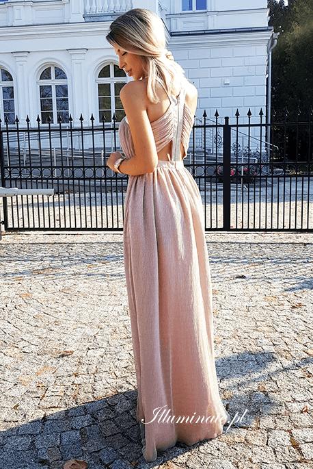 Jolie czerwona elegancka sukienka wieczorowa