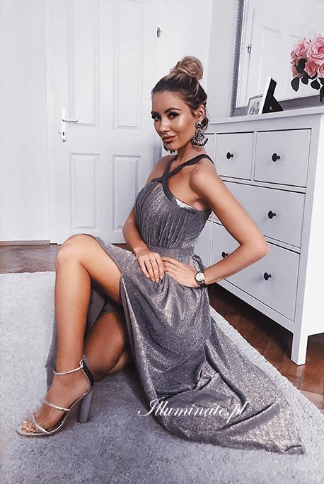 Ingi szara rzymianka, długa sukienka