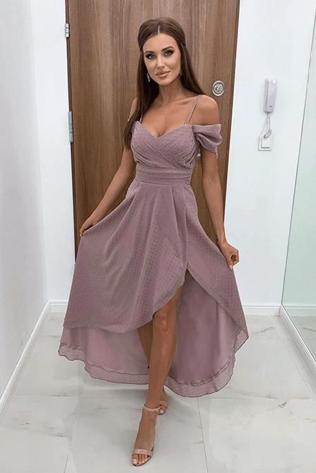 Asymetryczna sukienka dla druhny