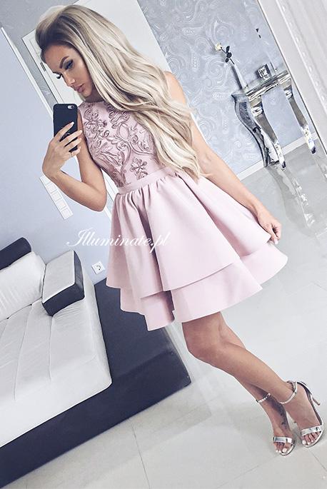Jasmin rozowa sukienka na wesele