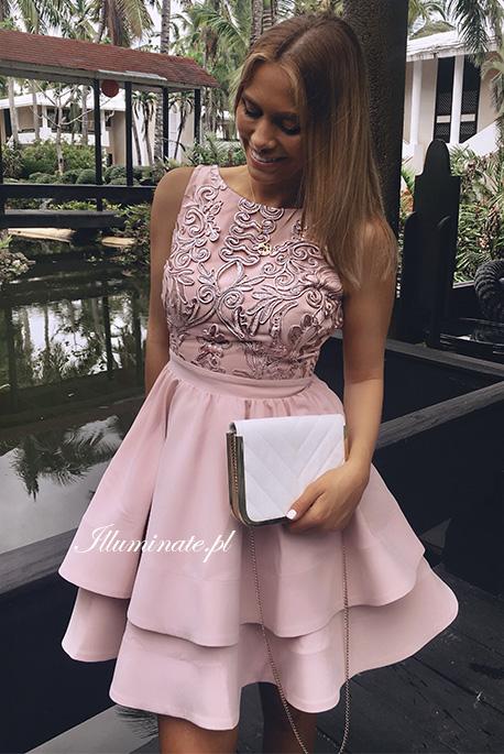 Jasmin sukienka na wesele rozkloszowana gipiura