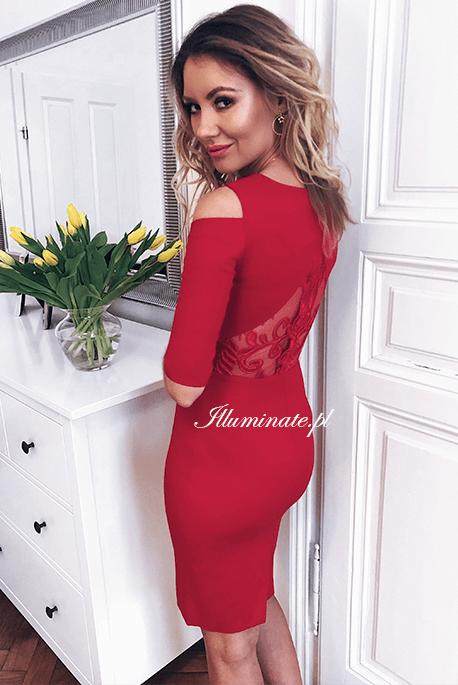 Khloe czerwona sukienka