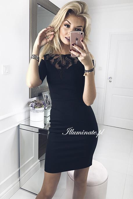 Khloe czarna olowkowa sukienka