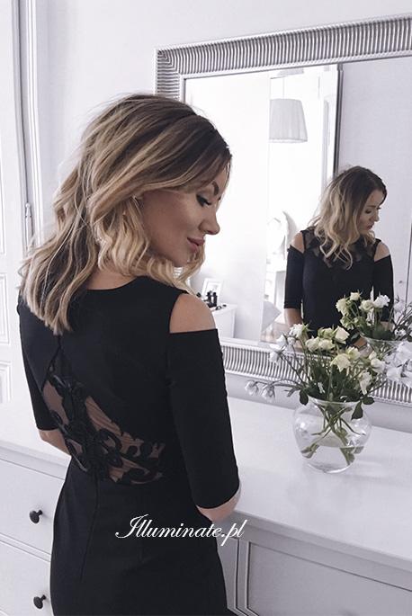 Khloe czarna sukienka