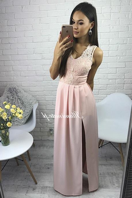 Lidia morelowa sukienka