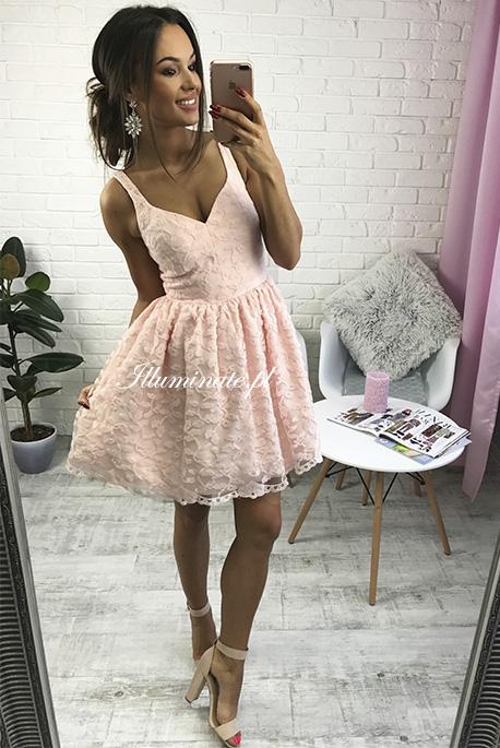 MarcellineE pudrowo rozowa sukienka