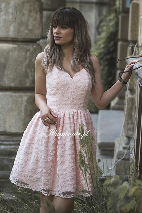 Marcelline rozowa sukienka na wesele