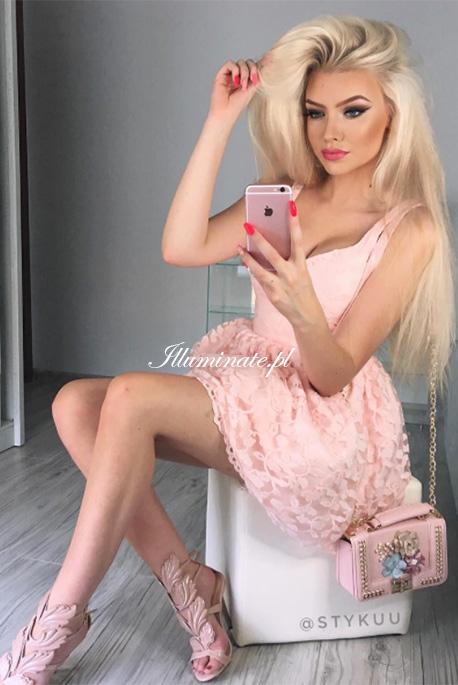 Jasmin różowa sukienka