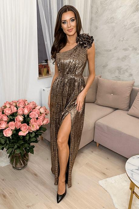 MILOS cekinowa sukienka na studniówkę